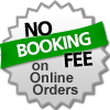 No Booking Fee on Online Booking